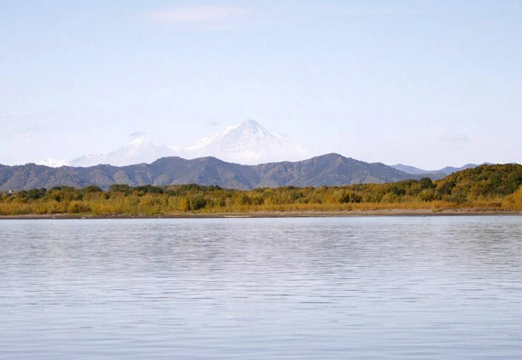Alt-Kamchatka river shiveluch volcano