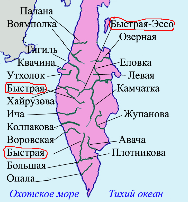 Alt-Камчатка карта речная сеть