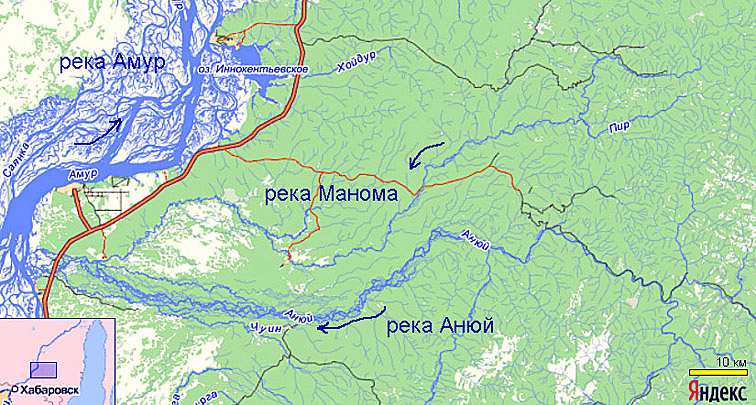 Alt-Амур Манома карта