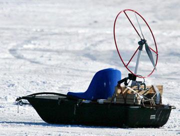 Alt-лодочный аэродвижитель-колибри-пропеллер на лодке-аэросани