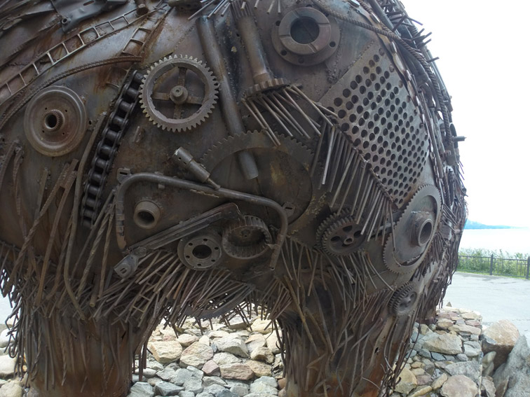 Alt-Охотское море-Магадан-мамонт-скульптура