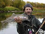 Alt-Raduga River Kamchatka fishing flyfishing